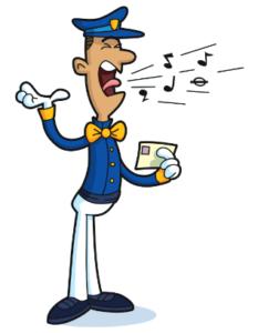 Singing Telegram guy